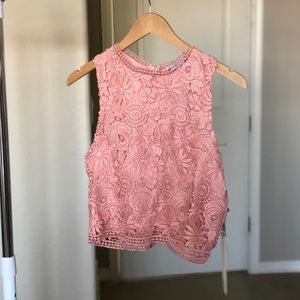 Tops - Pink Lace Top - New With Tags